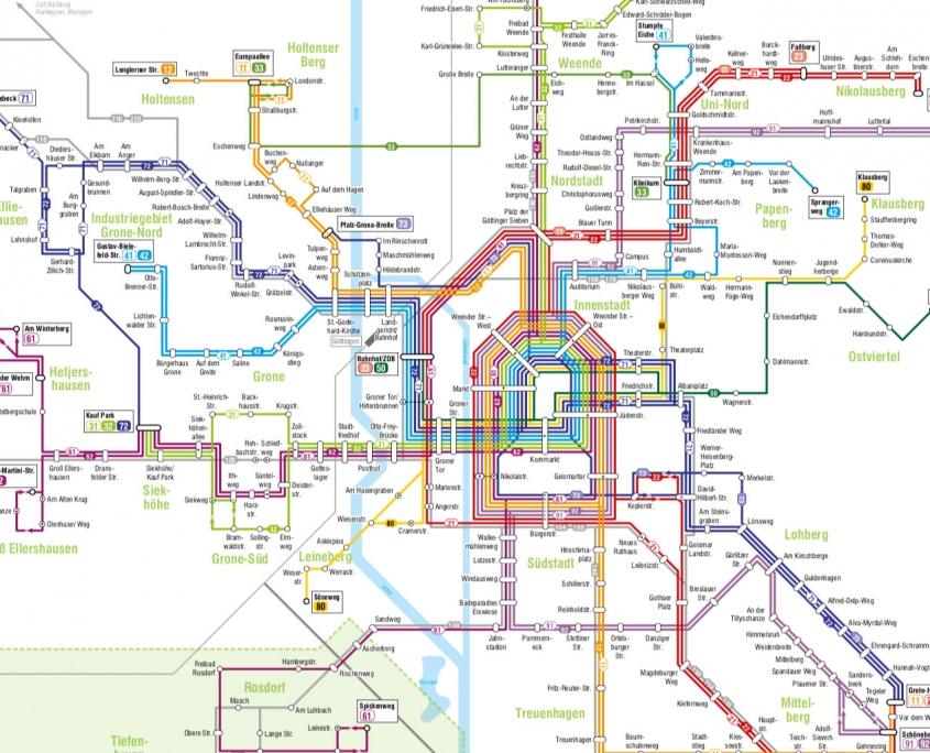 Anreise mit dem Bus - Göttinger Bus Plan | Zahnärzte am Papenberg